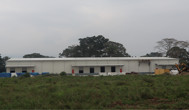 February 2021 - Front view of the inital 4000 m2 of industrial area of Ciudad Morazán